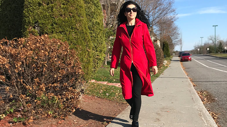 Red Soft Shell Burda coat