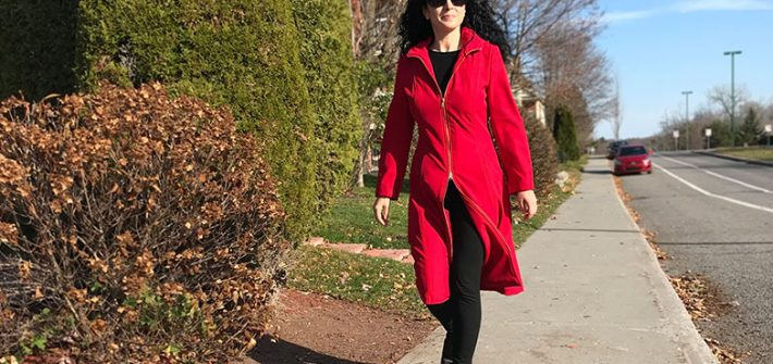 Red Soft Shell Burda coat